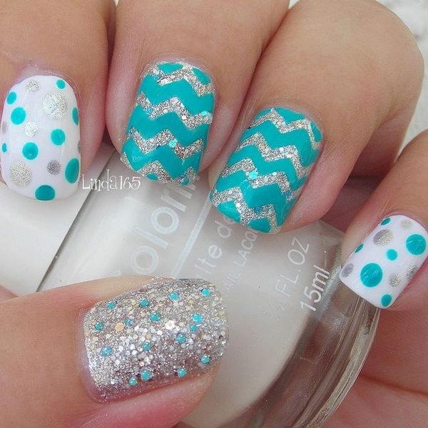 40 polka dots nail art designs - 50+ Stylish Polka Dots Nail Art Designs