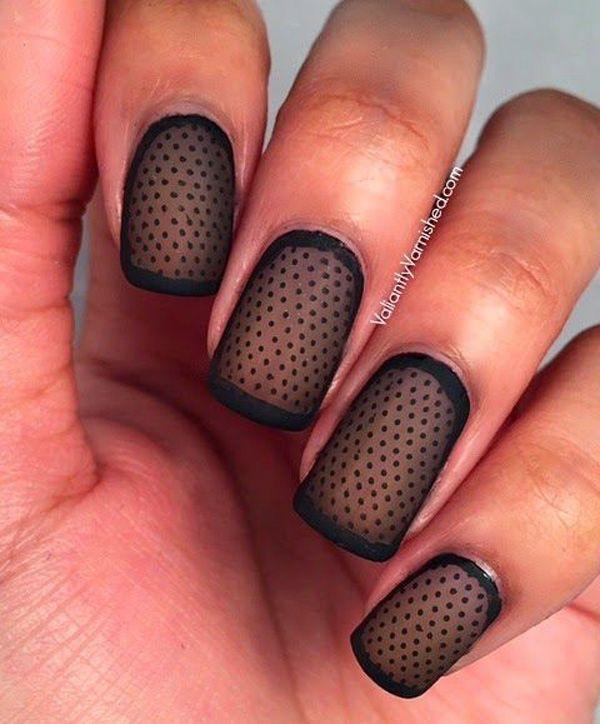 41 polka dots nail art designs - 50+ Stylish Polka Dots Nail Art Designs