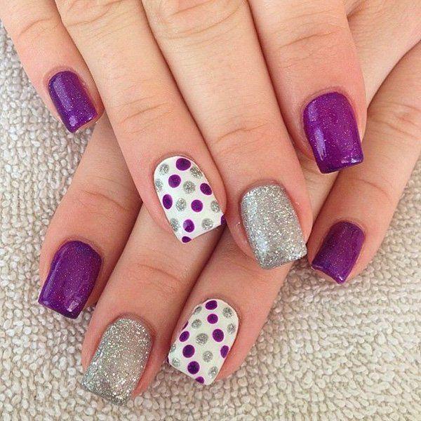 5 polka dots nail art designs - 50+ Stylish Polka Dots Nail Art Designs