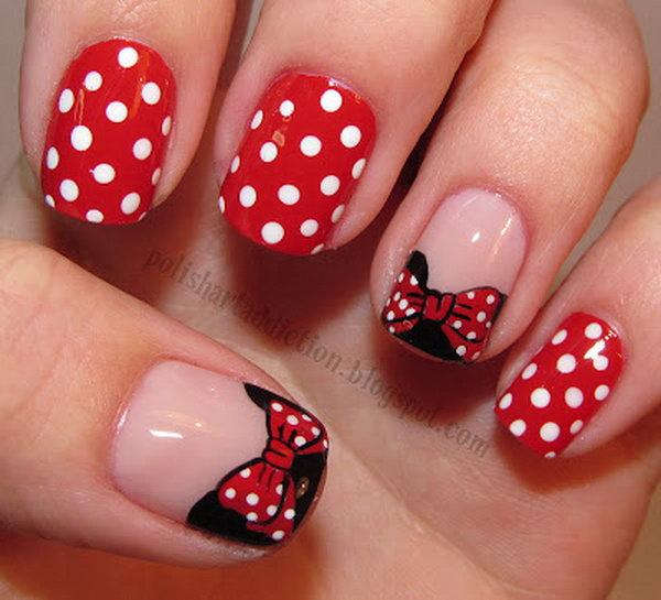 7 polka dots nail art designs - 50+ Stylish Polka Dots Nail Art Designs