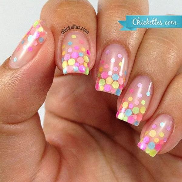 8 polka dots nail art designs - 50+ Stylish Polka Dots Nail Art Designs