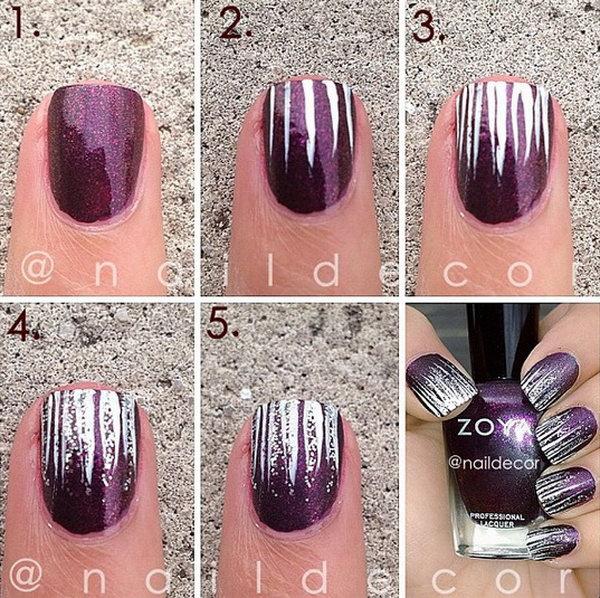 Confetti Nail Art Step 2