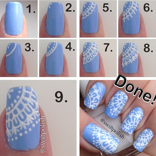 6 step by step nail art tutorials - 20+ Easy and Fun Step by Step Nail Art Tutorials