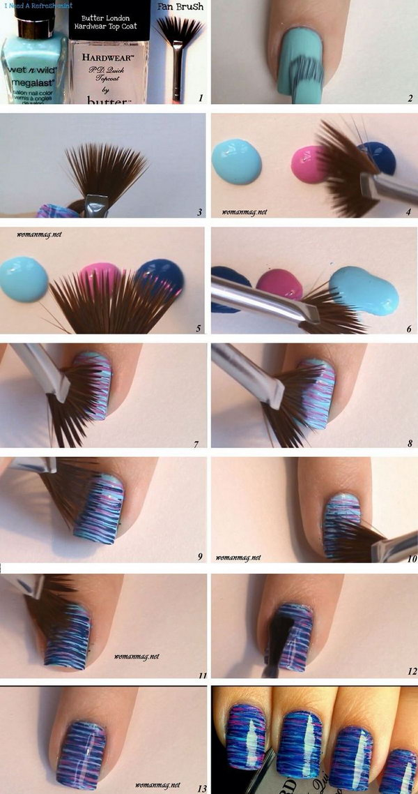 9 step by step nail art tutorials - 20+ Easy and Fun Step by Step Nail Art Tutorials