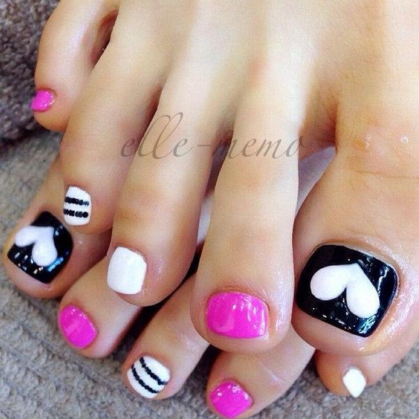 1 toe nail art designs - 60 Cute & Pretty Toe Nail Art Designs