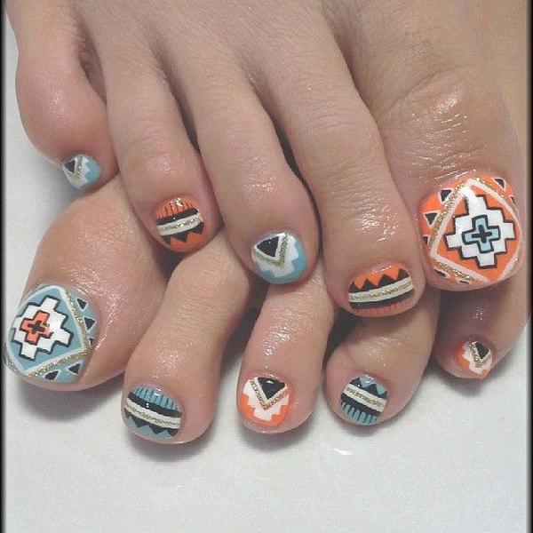 10 toe nail art designs - 60 Cute & Pretty Toe Nail Art Designs