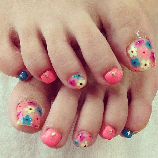13 toe nail art designs - 60 Cute & Pretty Toe Nail Art Designs