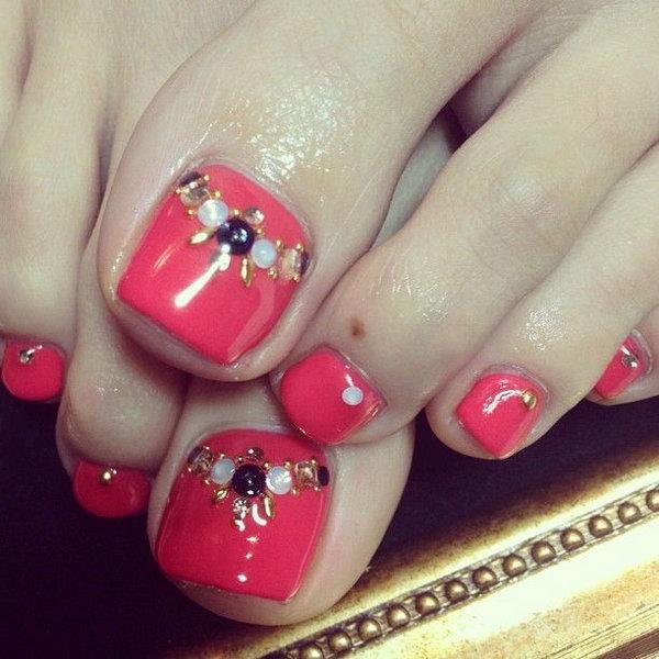 16 toe nail art designs - 60 Cute & Pretty Toe Nail Art Designs