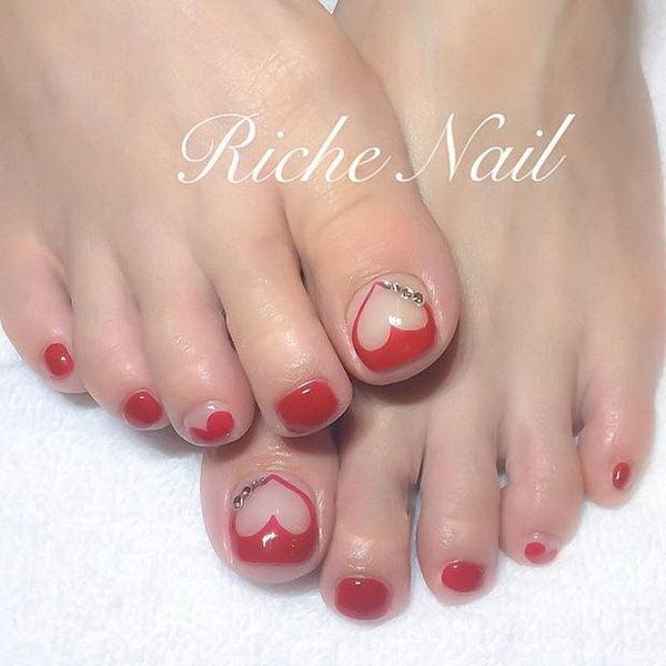 19 toe nail art designs - 60 Cute & Pretty Toe Nail Art Designs