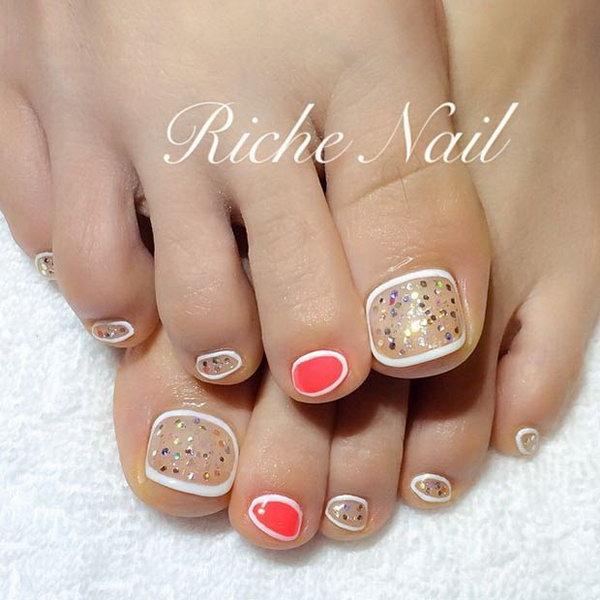 21 toe nail art designs - 60 Cute & Pretty Toe Nail Art Designs