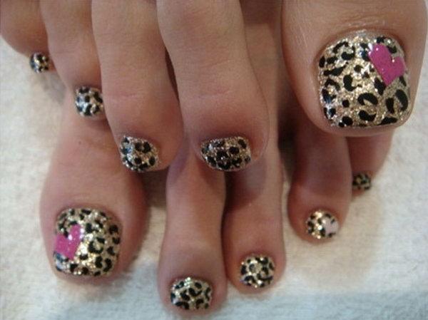 22 toe nail art designs - 60 Cute & Pretty Toe Nail Art Designs