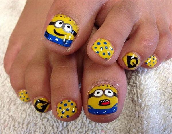 28 toe nail art designs - 60 Cute & Pretty Toe Nail Art Designs