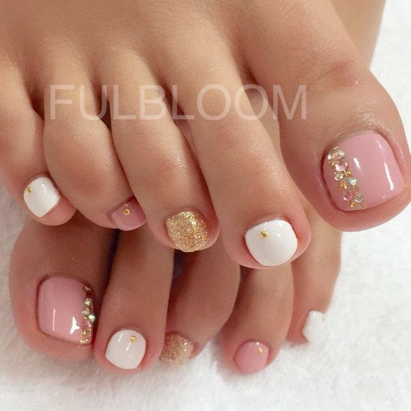 3 toe nail art designs - 60 Cute & Pretty Toe Nail Art Designs