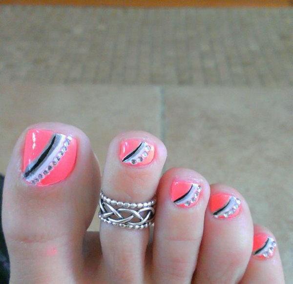 31 toe nail art designs - 60 Cute & Pretty Toe Nail Art Designs