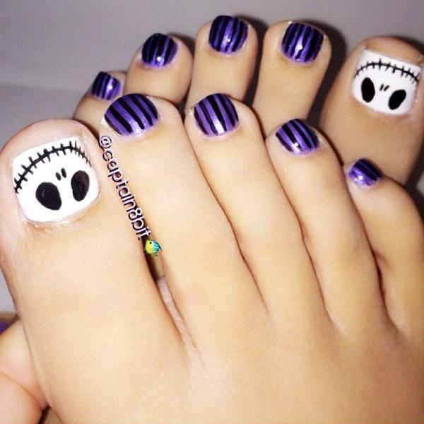 4 toe nail art designs - 60 Cute & Pretty Toe Nail Art Designs