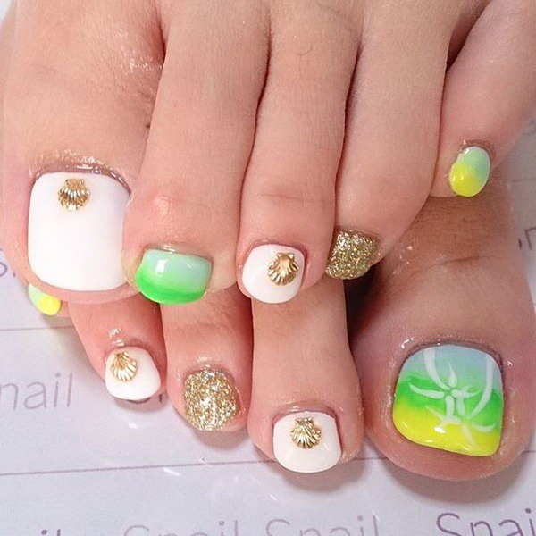 42 toe nail art designs - 60 Cute & Pretty Toe Nail Art Designs