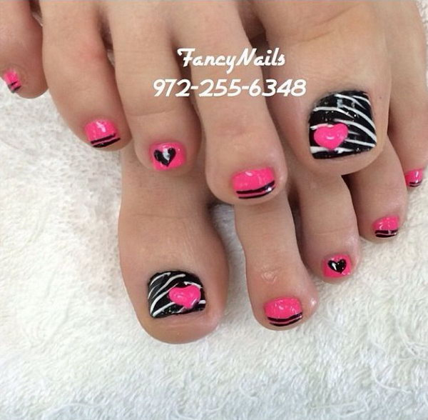 43 toe nail art designs - 60 Cute & Pretty Toe Nail Art Designs