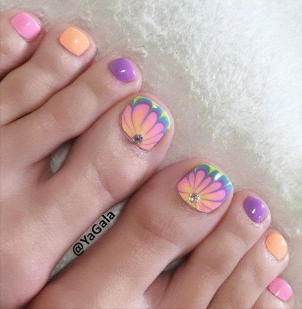 51 toe nail art designs - 60 Cute & Pretty Toe Nail Art Designs