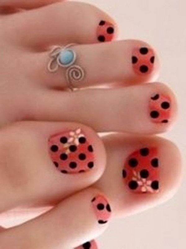 52 toe nail art designs - 60 Cute & Pretty Toe Nail Art Designs