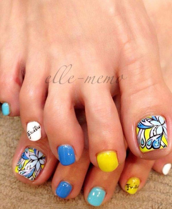 57 toe nail art designs - 60 Cute & Pretty Toe Nail Art Designs