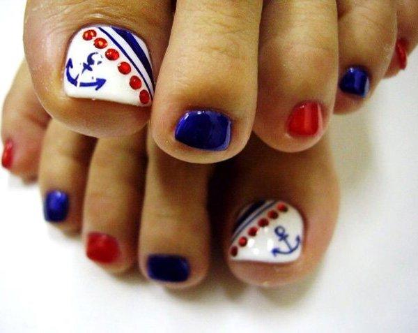 58 toe nail art designs - 60 Cute & Pretty Toe Nail Art Designs