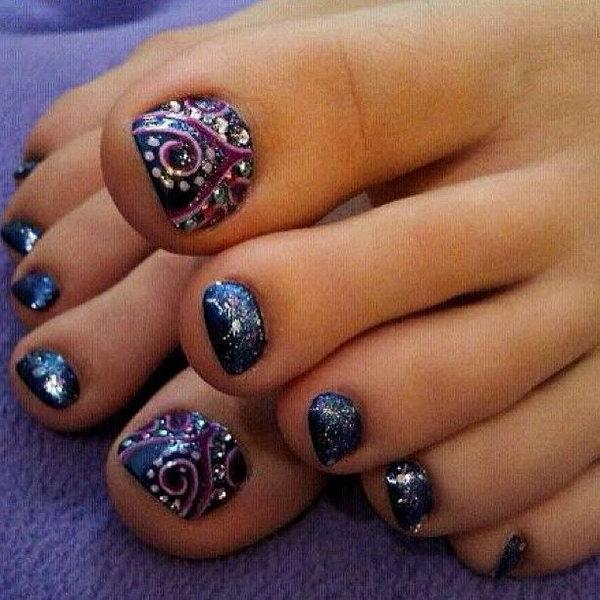 6 toe nail art designs - 60 Cute & Pretty Toe Nail Art Designs