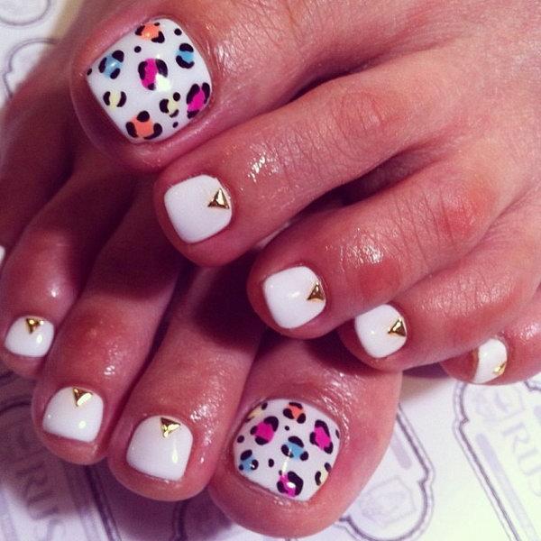 7 toe nail art designs - 60 Cute & Pretty Toe Nail Art Designs