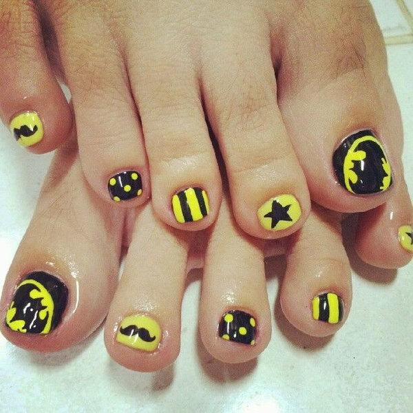 9 toe nail art designs - 60 Cute & Pretty Toe Nail Art Designs
