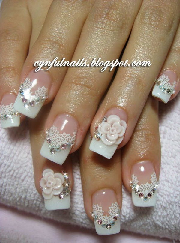 19 wedding nail art designs - 40+ Amazing Bridal Wedding Nail Art for Your Special Day