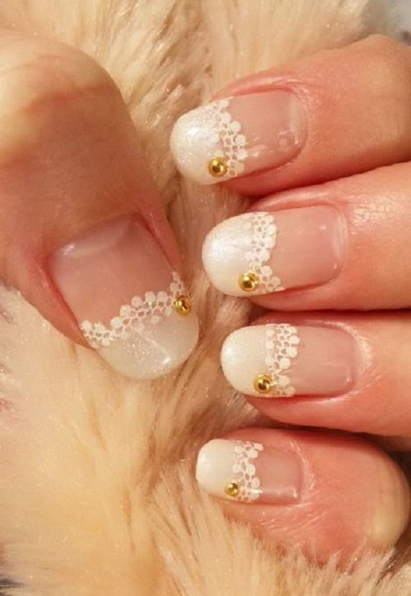 20 wedding nail art designs - 40+ Amazing Bridal Wedding Nail Art for Your Special Day