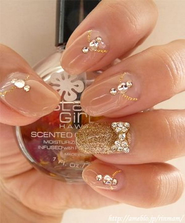 23 wedding nail art designs - 40+ Amazing Bridal Wedding Nail Art for Your Special Day