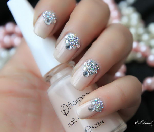 3 wedding nail art designs - 40+ Amazing Bridal Wedding Nail Art for Your Special Day