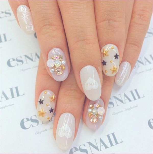 36 wedding nail art designs - 40+ Amazing Bridal Wedding Nail Art for Your Special Day