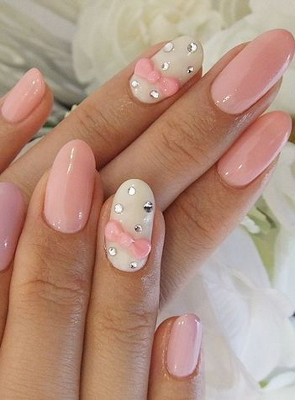 39 wedding nail art designs - 40+ Amazing Bridal Wedding Nail Art for Your Special Day