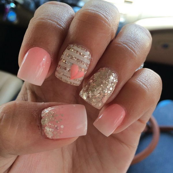 5 wedding nail art designs - 40+ Amazing Bridal Wedding Nail Art for Your Special Day