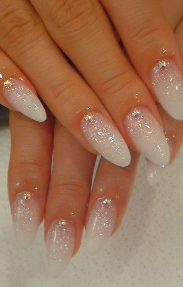8 wedding nail art designs - 40+ Amazing Bridal Wedding Nail Art for Your Special Day