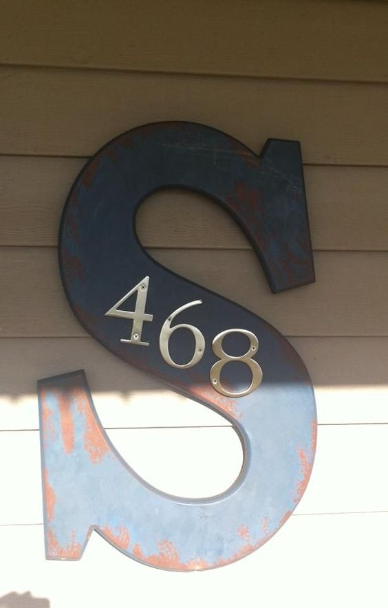 30 Crative Ways To Display Your House Numbers