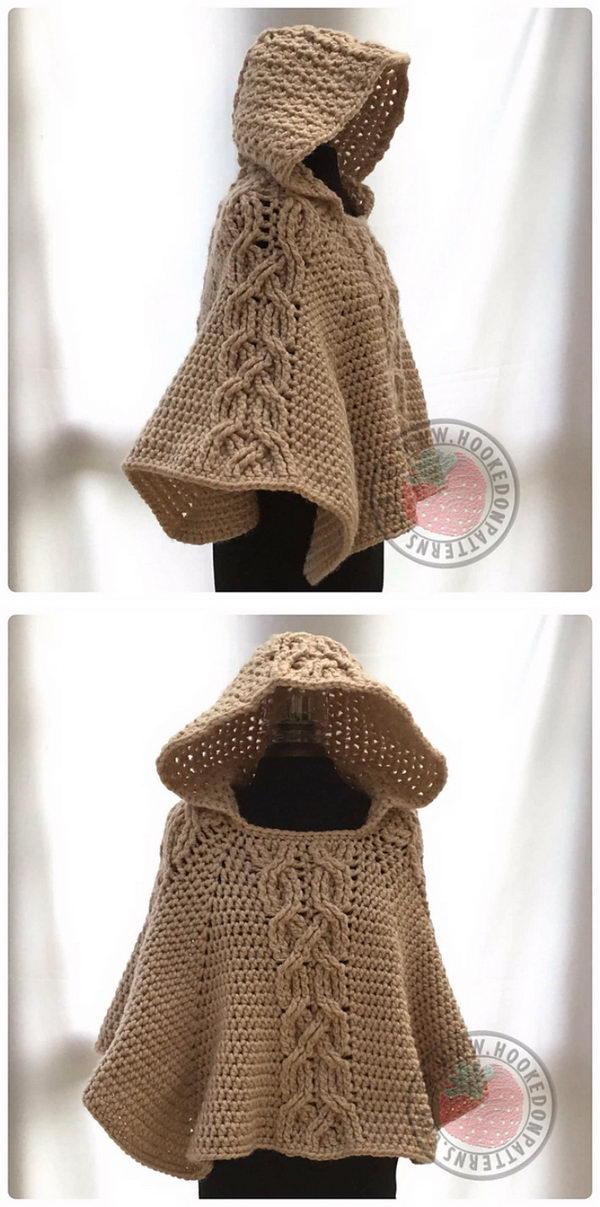 17 crochet women capes poncho ideas - 20 Crochet Women Capes and Poncho Ideas