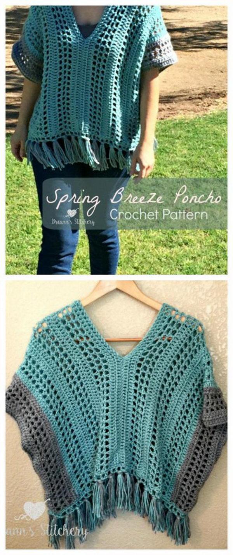 2 crochet women capes poncho ideas - 20 Crochet Women Capes and Poncho Ideas