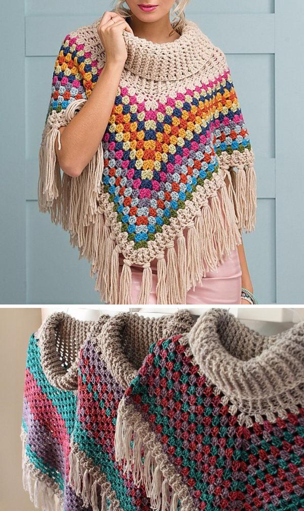 7 crochet women capes poncho ideas - 20 Crochet Women Capes and Poncho Ideas
