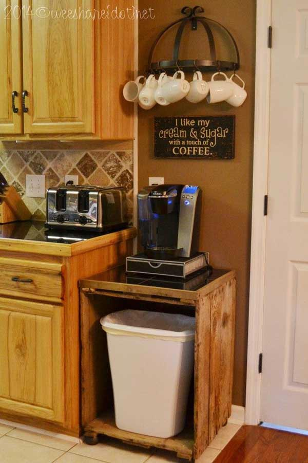 12 coffee station diy ideas tutorials - 15+ Cool DIY Coffee Station Ideas