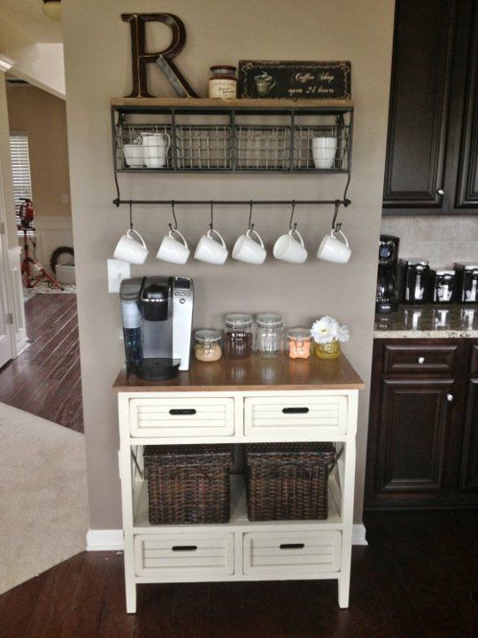2 coffee station diy ideas tutorials - 15+ Cool DIY Coffee Station Ideas