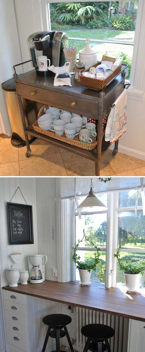 6 coffee station diy ideas tutorials - 15+ Cool DIY Coffee Station Ideas
