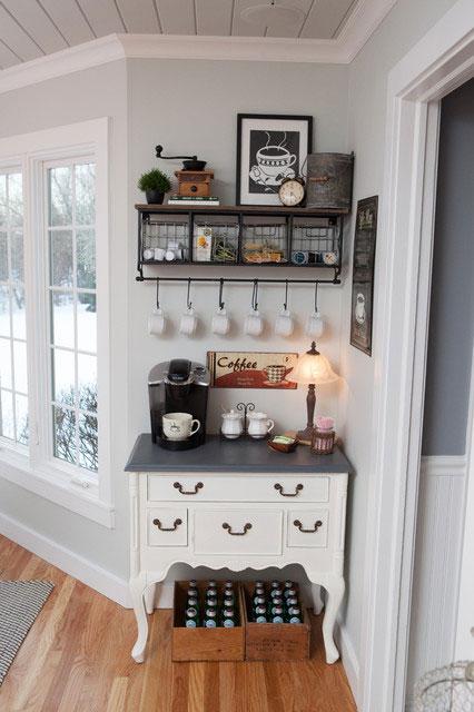 8 coffee station diy ideas tutorials - 15+ Cool DIY Coffee Station Ideas