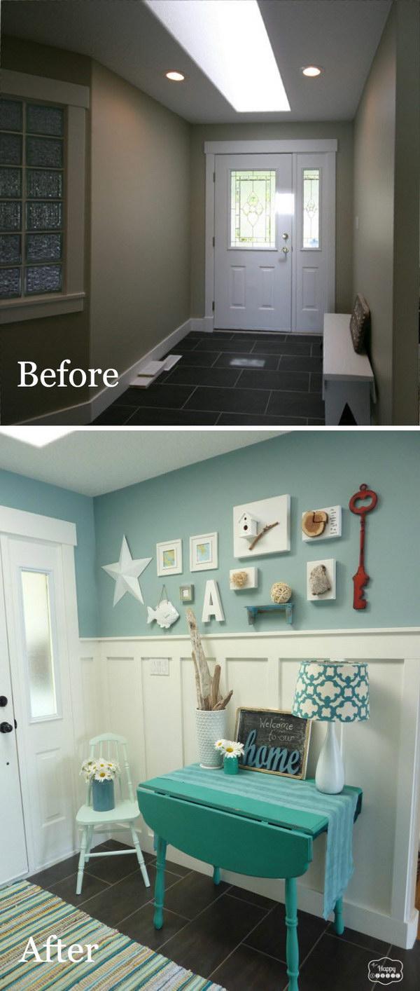 26 entryway makeover diy ideas tutorials - 30+ DIY Ideas to Give a Makeover to a Your Entryway
