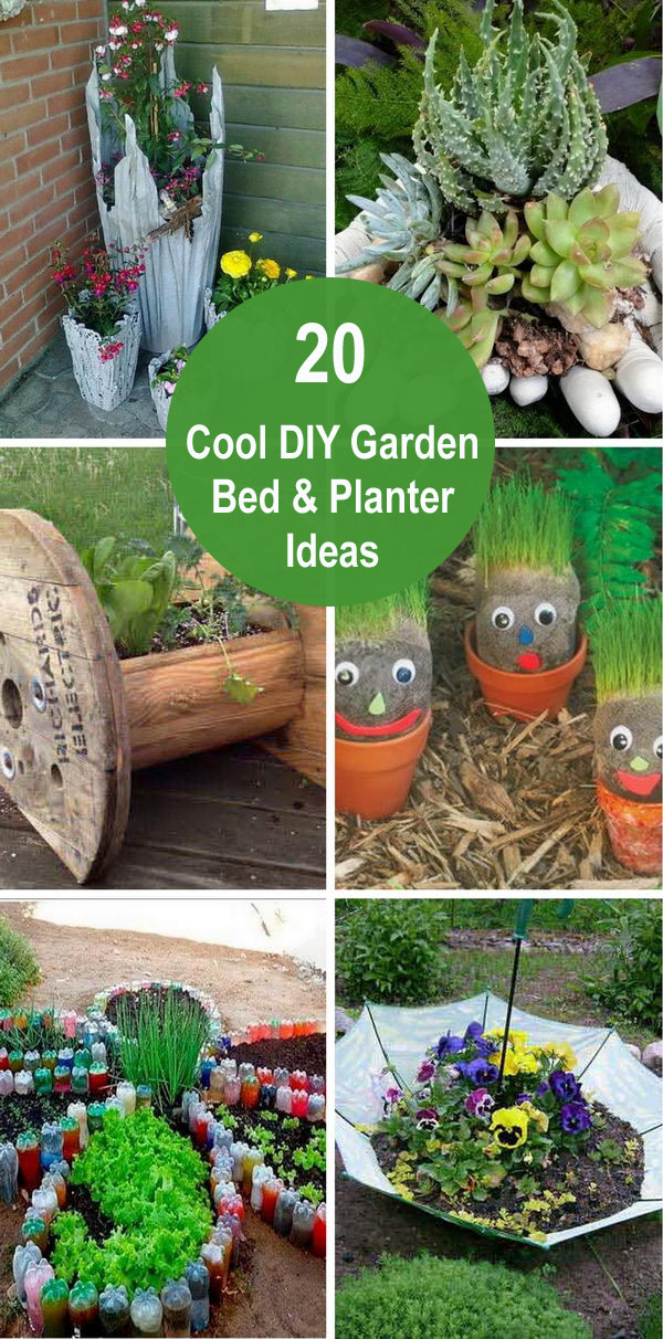 garden bed planter diy ideas - 20 Cool DIY Garden Bed and Planter Ideas