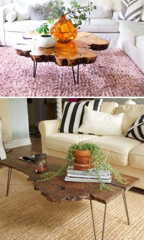 10 live edge wood decoration ideas - 20 Awesome Live Edge Wood Decoration Ideas