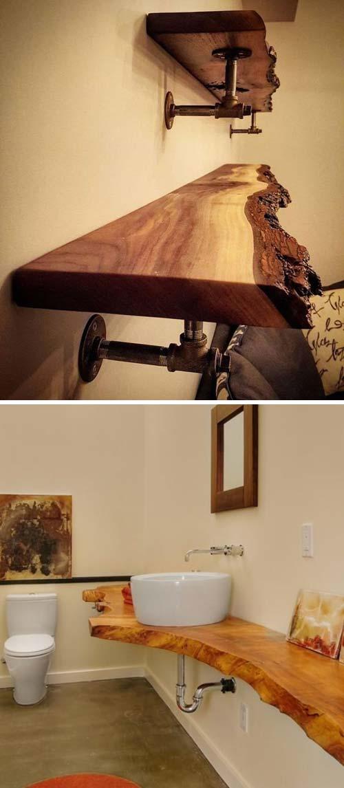 15 live edge wood decoration ideas - 20 Awesome Live Edge Wood Decoration Ideas