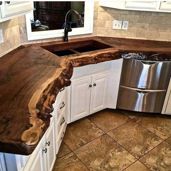 19 live edge wood decoration ideas - 20 Awesome Live Edge Wood Decoration Ideas