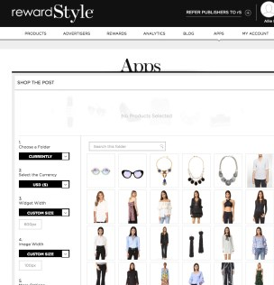 How to make money as a blogger: Rewardstyle